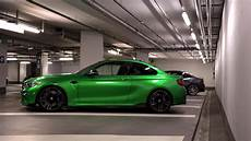 bmw m2 in the beautiful and flashy java green