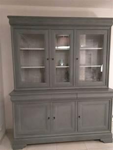 peinture meuble bois interieur vaisselier en merisier peint en gris gustavien de liberon