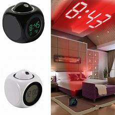 alarm clock led wall ceiling projection lcd digital voice talking temperature cz ebay