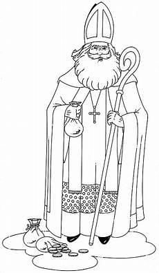 Ausmalbild Bischof Nikolaus Sinterklaas Almere Bij U Kleurplaat Foto Album