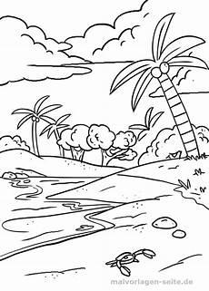 malvorlage strand mit palme urlaub malvorlagen palme