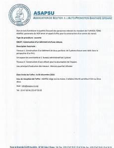 Appel D Offre Pour La Construction Batiment Annonces