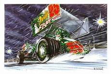 merry christmas sprint car sprint car racing sprint cars motorsport art