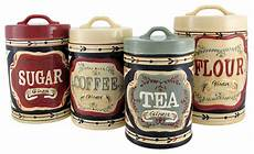 kitchen ceramic canister sets 4 country store kitchen ceramic canister set
