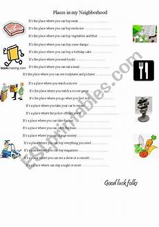 places in my neighbourhood worksheets 16015 places in my neighborhood esl worksheet by urpi