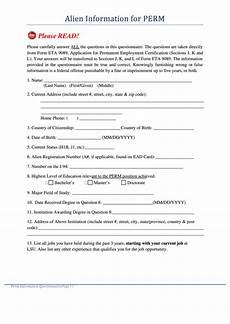 fillable form eta 9089 application for permanent employment certification printable pdf download