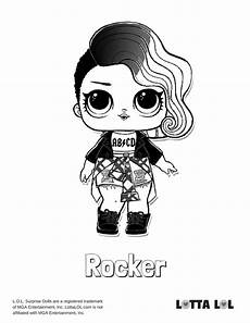 rocker coloring page lotta lol coloring pages lol dolls