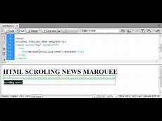 html scrolling news text marquee youtube