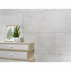 Dalle Murale Pvc Ciment Blanc Dumawall L 120 X L 37 5 Cm X