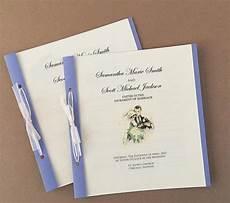 diy wedding programs allfreepapercrafts com