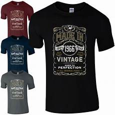 t shirt en made in 1966 t shirt born 51st year birthday age present