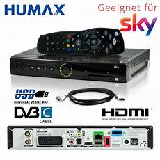 Hd Digital Receiver Kabel - kabel receiver humax pr hd3000c dvb c pvr digital sky s
