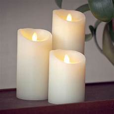 luminara candele luminara flameless ivory moving wick pillar candle lights