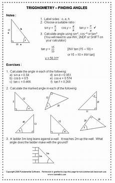 free high school math worksheet from funmaths com