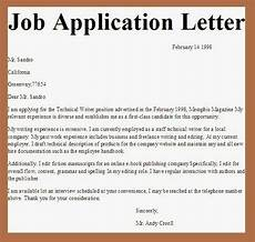 business letter exles job application letter