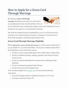 how to apply for a green card through marriage