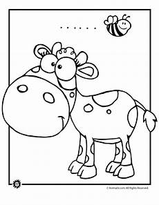 cow and bumblebee coloring page woo jr