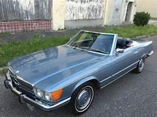 mercedes w 107 1973 mercedes 450sl roadster w107 grey blue metallic