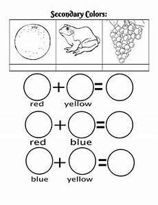 secondary colors worksheet by the mermaid teachers pay teachers