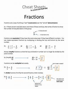 fraction cheat sheet fractions for dummies cheat sheet fractions cheat sheets