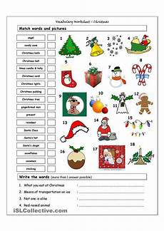 christmas vocabulary worksheets for elementary students keres 233 s classroom christmas