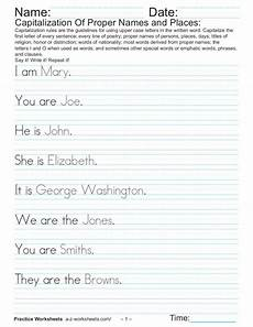capitalizing places worksheets 15962 capitalization of proper names and places worksheet for 4th grade lesson planet