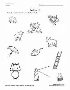 letter l sound worksheets 24492 letter ll pictures worksheet for 1st 2nd grade lesson planet