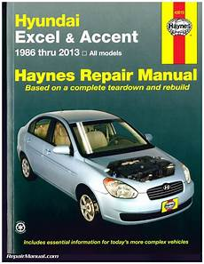 free car repair manuals 2010 hyundai veracruz engine control hyundai excel accent 1986 2013 haynes auto repair service manual