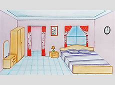 How to draw a bedroom step by step   YouTube