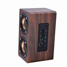 Newest W5 Wooden Portable Bluetooth 3d Hifi Wireless Retro