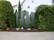 Origineller Sichtschutz Im Garten Landschaft Metall