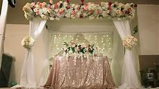 diy canopy and stage backdrop decor diy floral decor diy