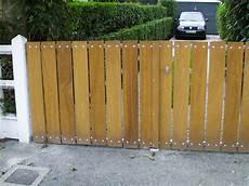 fabrication portail bois portail bois et acier aluminium lemoine dazy