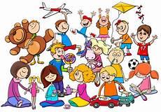 auto école nîmes kinderen groep spelen met speelgoed vector