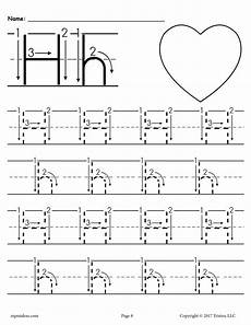 worksheets letter h 22995 printable letter h tracing worksheet with number and arrow guides supplyme