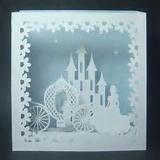 pop up cinderella carriage card template a beautiful 3 dimensional of a castle princess and