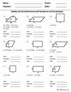 area of polygons worksheets free standards met area and perimeters measurements area of