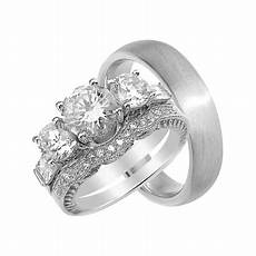 laraso co his and hers wedding ring sterling silver wedding bands him 9 7