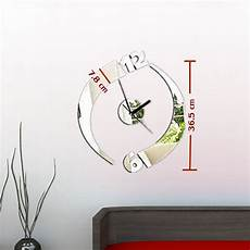 Wall Clock Acrylic Mirror Sticker Self by Modern Acrylic Mirror Surface Diy Large Wall Clock Sticker
