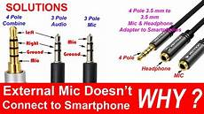 4 pole 3 5 mm to headphone and microphone separator converter adapter youtube