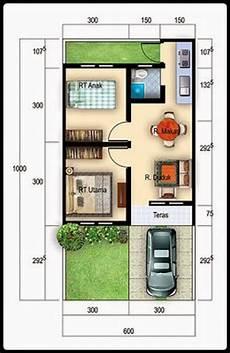 40 Contoh Denah Rumah Minimalis Beserta Ukurannya Disain