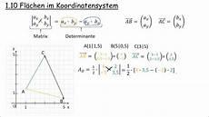 1 10 fl 228 chen im koordinatensystem determinante