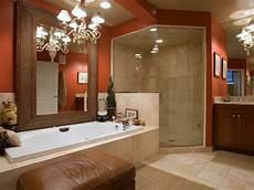 duschtrennwand für badewanne orange farbe farben f 252 r badezimmer mit beige fliesen und