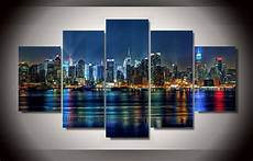 2019 5 panel framed printed new york city painting on