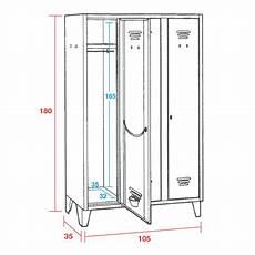 misure armadietti spogliatoio armadietto spogliatoio 3 posti offerta cm 105x35x180h