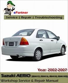 car engine repair manual 2002 suzuki aerio engine control suzuki aerio service repair manual 2002 2007 automotive service repair manual