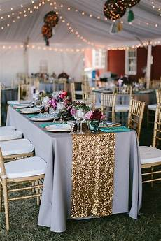 maine wedding with an emerald green gown wedding tables