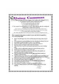 grammar worksheets comma splices worksheet 3 16 exercises 24726 using commas esl worksheet by kut314