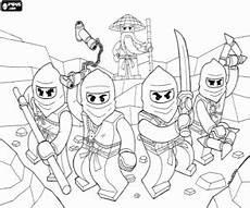 Lego Ninjago Neue Ausmalbilder Malvorlagen Die Ninjas Mit Seinem Meister In Lego Ninjago