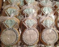 engagement ring cookie favors adorable for engagement party or bridal shower engaged